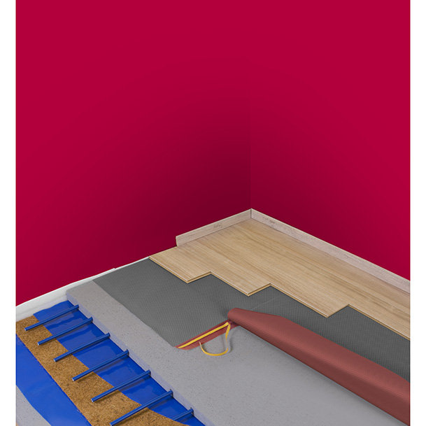 Acoustic underlay with super low heat resistance