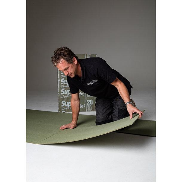 Under flooring pad for carpet, laminate and parquet